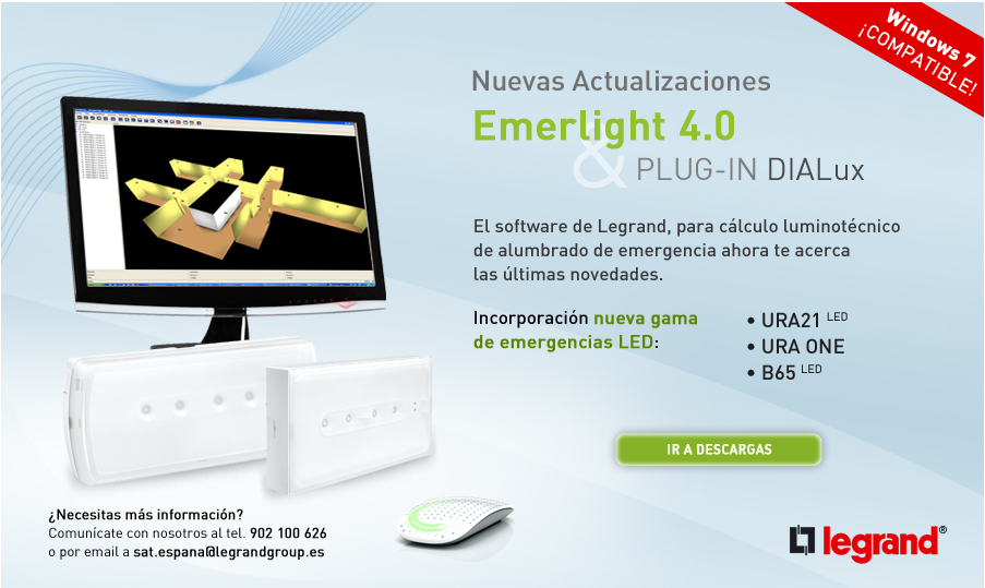 Newsletter Nuevas actualizaciones Emerlight 4.0 & PLUG-IN DIALux
