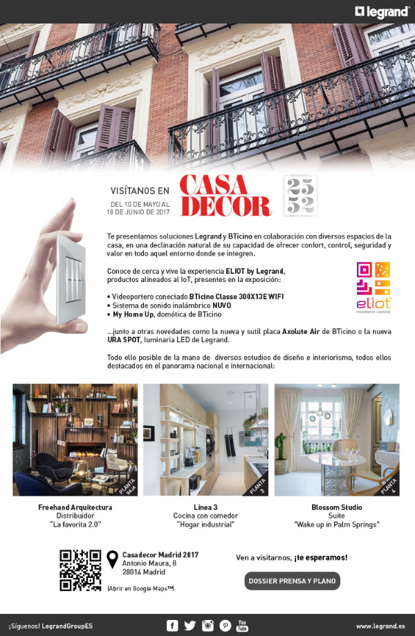 Newsletter Te esperamos en Casa Decor 2017