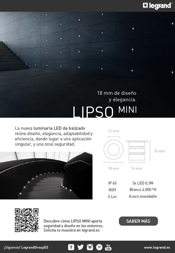 Newsletter Nueva luminaria de emergencia LIPSO MINI