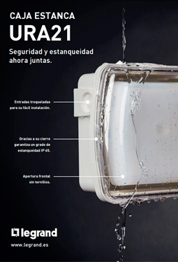 Nueva caja estanca IP 65 para luminarias de emergencia URA21 (LED y NEW)