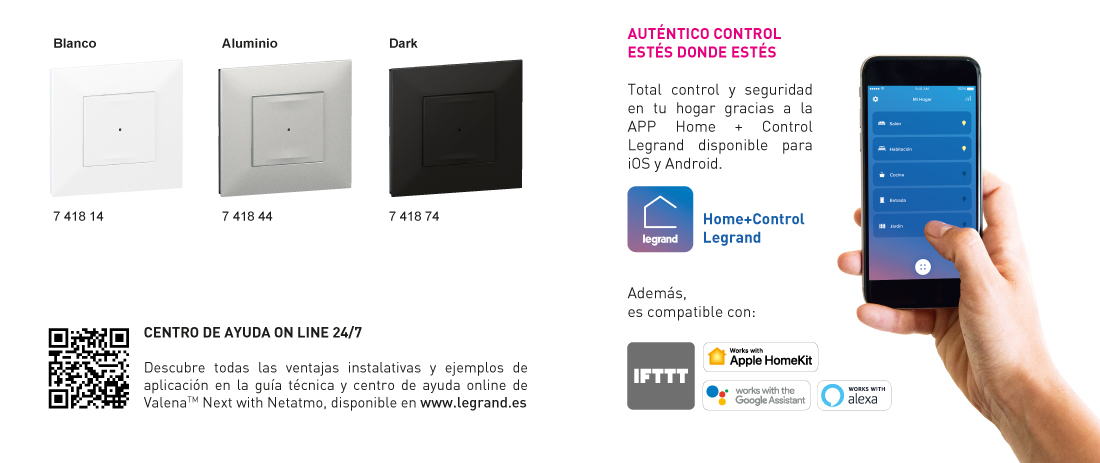 App Interruptor conectado con neutro Valena Next with Netatmo Legrand