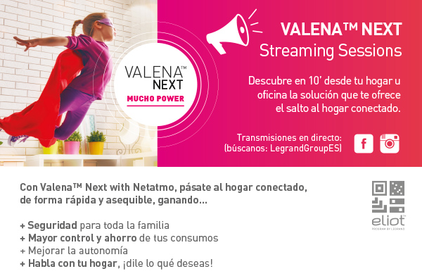 Sesiones en streaming Valena™ Next ON TOUR, By Legrand